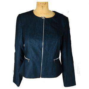 Calvin Klein Women's Indigo Tone Blazer Jacket